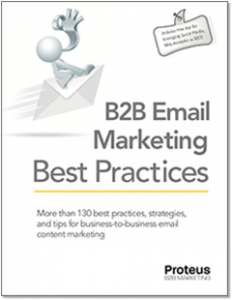 Image fo Proteus B2B's eBook on B2B Email Marketing Best Practices
